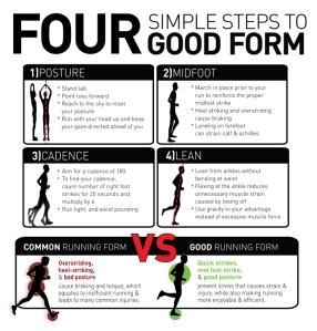 4 steps running